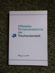 Hoppenstedt Offizielles Treuhandverzeichnis 1991