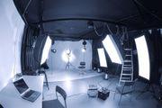 Deckenschienensystem für Fotostudio