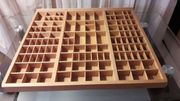 großer Setzkasten Holz Deko Regal