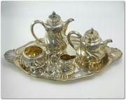 Prunkvolles Kaffee Teeservice 800er Silber