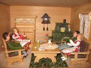 Dora Kuhn Wohnzimmermöbel Puppenstube-Puppenhaus-Puppenmöbel