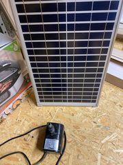 teichpumpe bachlauf mit Solarpaneel