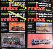Modellbahn Zeitschrift MBZ Februar März1983-August