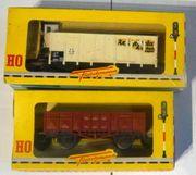 Fleischmann H0 2x Güterwagen Hochbordwagen