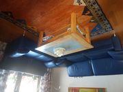 Gut erhaltene blaue ledergarnitur 2