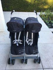 MACLAREN Zwillingsbuggy Geschwisterwagen Twin Techno