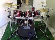 Verkaufe Drumset Mapex Tornado weinrot