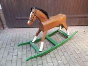 Großes Holz - Schaukelpferd Unikat Pferd