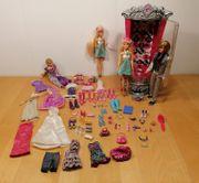 Barbie Modezauber Glitterizer Kleiderschrank Puppen