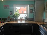 Einbauküche in schwarz