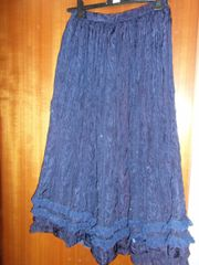 Damen Faltenrock Tanzrock Einzelstück dunkelblau