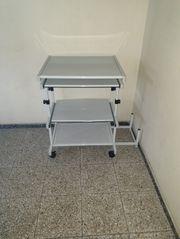 Schreibtisch m Rollräder Rolltisch Bürotisch