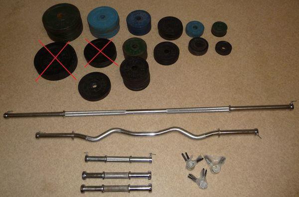 Hantelscheiben, Hantelstangen, Langhantelstange, SZ-Stange, Kurzhantelstange Hantelgewichte Gewichte - Sinsheim - Hantelscheiben aus Gusseisen. Lochdurchmesser: 30 mm. Verschiedene Gewichtsklassen (10 kg, 5 kg, 2,5 kg, 1,25 kg, 0,5 kg). Verschiedene Farben (schwarz, grün, blau). Verschiedene Hantelstangen (Langhantelstange, SZ-Stange, Kurzhantelstange). G - Sinsheim