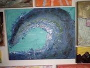 Gemälde Bild Abstrakte Welle gemalt