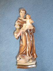 Holzstatue Hl Antonius