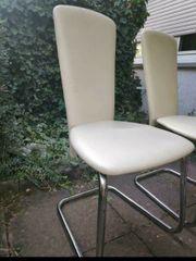 4 beige creme Stühle von