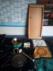 Verkaufe Klangliege Klangschale und Gong