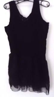 Spitzenkleid Mini Gr 38 schwarz