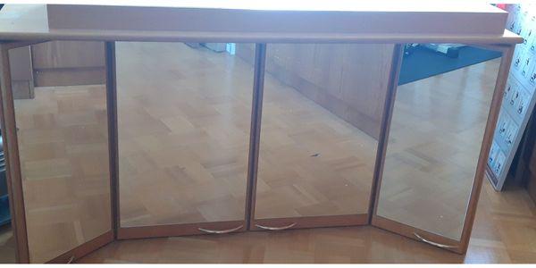 Bad Spiegelschrank Holz massiv zu