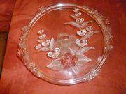Kristallglas - Tortenplatten mit Fuß shabby