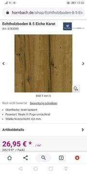 Echtholz Parkett Fußboden 28m² Eiche