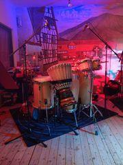 Percussionist mit Langjähriger Live und