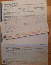 Fahrkarte Deutsche Bahn Binz - Köln