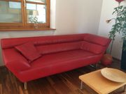 Sofa Couch Leder Marke Credo