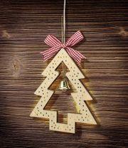 NEU LED Silhouette Holz-Weihnachtsbaum Tür-Dekoration