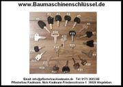 34 versch BaumaschinenSchlüssel Minibagger Radlader