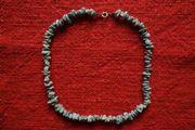 Türkis-Halskette Länge 41 5 cm Federrring-Verschluss