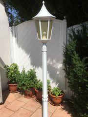 Massive Gartenlampe - Alu weiß ca