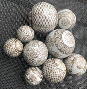 Dekokugeln Keramik 9 St div