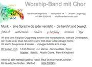 WorshipBand sucht Musiker und Sänger
