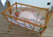 Puppenbett Puppenwiege aus Buchenholz