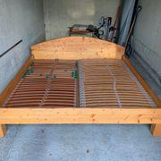 Doppelbett 200x200 cm Fichte Vollholz
