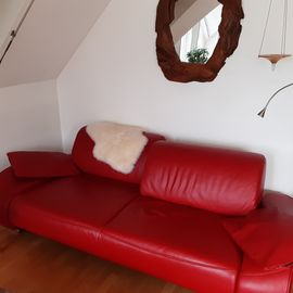 Polster, Sessel, Couch - Musterring 3 Sitzer Ledersofa