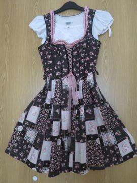 Damenbekleidung - Dirndlkleid mit Schürze und Bluse
