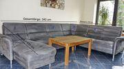 Alcantara Wohnlandschaft - Sitzgarnitur - grau
