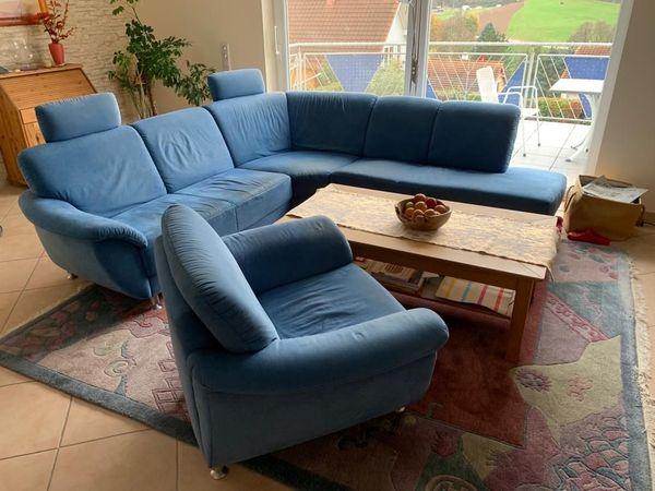 Ecksofa in L-Form mit Sessel