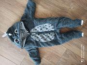 Fleeceanzug Dino in 62