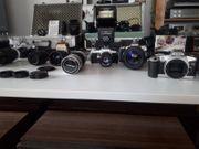 Kamera Konvolut Canon Pentax analog