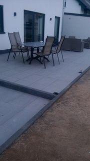 Garten um Haus Bagger Terrasse