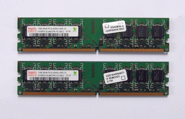 2 GByte Paar Hynix DDR2