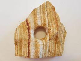 2. Regenbogen - Lochgestein groß 1 Loch Aquarium - Terrarium Stein, Aquariumdekoration