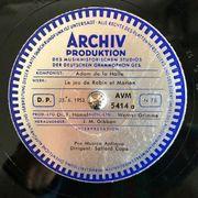 Schallplatte aus dem Tonarchiv der