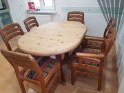 Esstisch oval mit 6 Stühlen