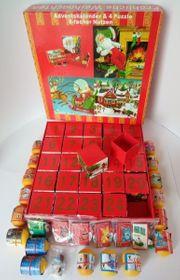 Adventskalender Puzzle-Boxen mit 24 Kinder-Überraschungen