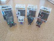 4 Funko Pop Figuren LED