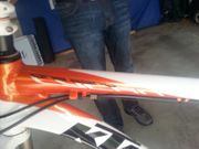 KTM Mountainbike lycan weiss orange